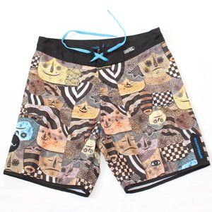 Imperial Motion Board Shorts - M32 - Art Faces